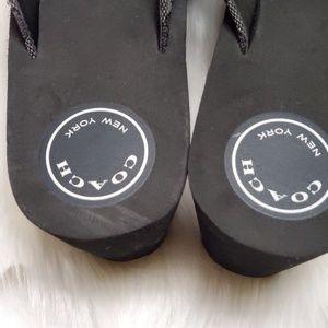 Coach Shoes - Coach Jen Wedge Thong Sandals